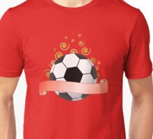 soccer ribbon with green curls in the air Unisex T-Shirt