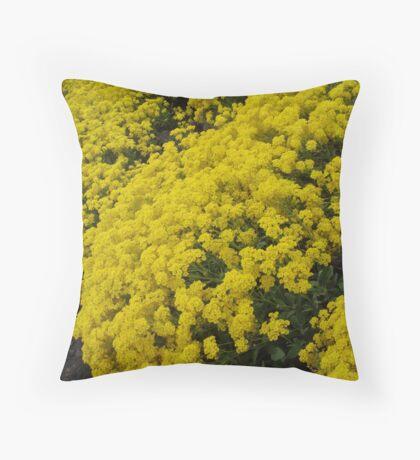 Yellow Carpet Throw Pillow