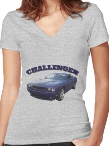 Challenger Women's Fitted V-Neck T-Shirt