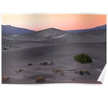 Death Valley, Mesquite Sunset Poster