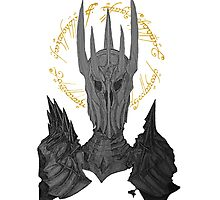Sauron Black Speech Photographic Print