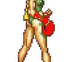 Cammy Street Fighter Butt-Cheeks Pose by VirtuaRicky