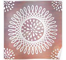 Digital Bursting Flower Poster