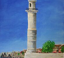 Lighthouse in Venice by Linda Ridpath