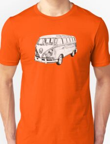 Classic VW 21 window Mini Bus Illustration Unisex T-Shirt