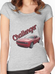 Red Challenger Women's Fitted Scoop T-Shirt