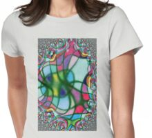 fractal web Womens Fitted T-Shirt