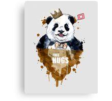 Free Hugs Panda Canvas Print