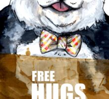Free Hugs Panda Sticker