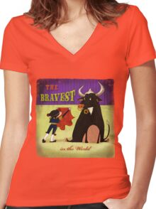 The bravest in the world - Matador Women's Fitted V-Neck T-Shirt