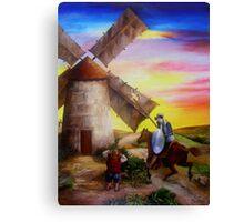 Don Quixote's Windmill Adventure Canvas Print
