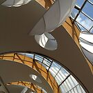 Mall Roof Abstract by John Gaffen