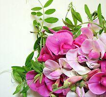 flowers pink polka dots by OlgaBerlet