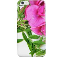 flowers pink polka dots iPhone Case/Skin