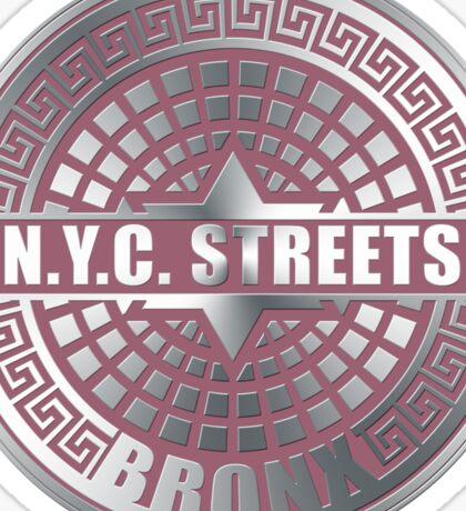 Manhole Covers Bronx Pink Sticker