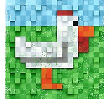 Pixel Chicken Photographic Print