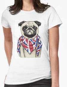 BRITISH PUG Womens Fitted T-Shirt
