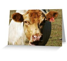 Asymmetrical Bovine Greeting Card
