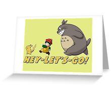 Totoro Gohan Pikachu Greeting Card