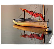 One Sailboat Poster