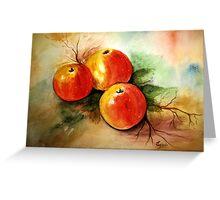 Beautiful apples- Watercolor painting Greeting Card