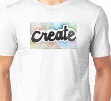 Watercolor Create Font Typography Unisex T-Shirt
