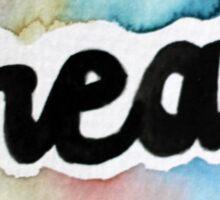 Watercolor Create Font Typography Sticker