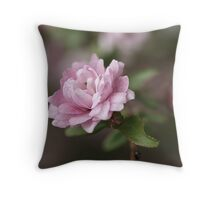 Pink Flowering Almond Throw Pillow
