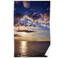 Sunrise, Mediterranean Sea Poster
