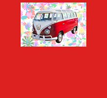 VW 21 window Mini Bus And Hippie Background Unisex T-Shirt