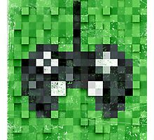 Pixel Gamer Photographic Print