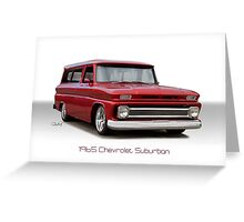 1965 Chevrolet 'Custom' Suburban Greeting Card
