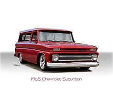 1965 Chevrolet 'Custom' Suburban Photographic Print
