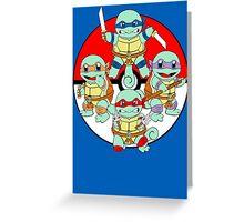 Ninja Squirtle Greeting Card