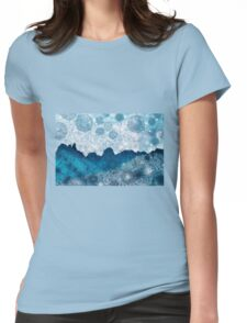 Midnight Blue Glacier Womens Fitted T-Shirt