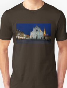 Blue Hour - Santa Croce Church in Florence, Italy T-Shirt