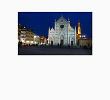 Blue Hour - Santa Croce Church in Florence, Italy Unisex T-Shirt