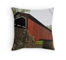 Dellville Covered Bridge Throw Pillow