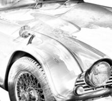 Illustration Of Triumph Tr4 Sports Car Sticker