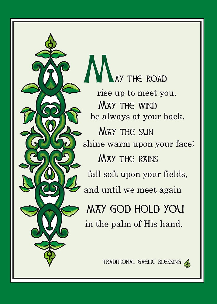 who wrote the irish blessing may road rise up to meet you