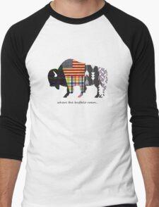 Where the Buffalo Roam Men's Baseball ¾ T-Shirt