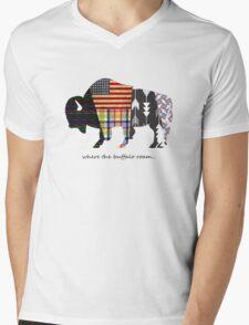 Where the Buffalo Roam Mens V-Neck T-Shirt
