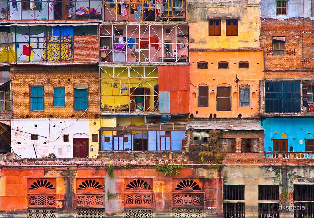 over the Ganges at Haridwar by Darren Kearney