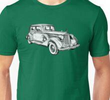 Packard Luxury Antique Car Illustration Unisex T-Shirt