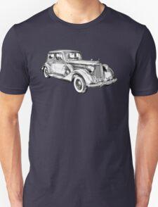 Packard Luxury Antique Car Illustration T-Shirt