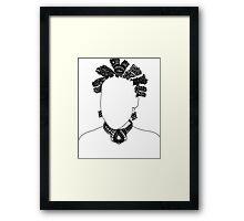 Pen & Ink  Drawing Bantu Knots Framed Print