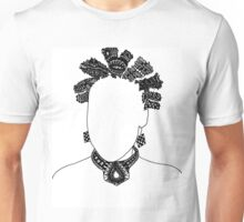 Pen & Ink  Drawing Bantu Knots Unisex T-Shirt