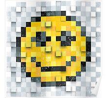 Pixel Smiley Poster