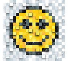 Pixel Smiley Photographic Print