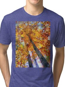 Autumn Trees In The Sky Tri-blend T-Shirt